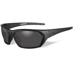 Okulary Taktyczne Wiley X WX Ignite - Smoke Grey - Czarne