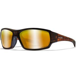 Okulary Taktyczne Wiley X WX Breach - Captivate Polarized Bronze Mirror - Matte Hickory Brown