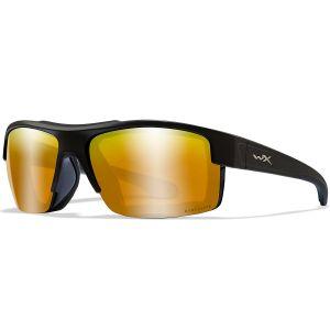 Okulary Taktyczne Wiley X WX Compass - Captivate Polarized Bronze Mirror - Czarne
