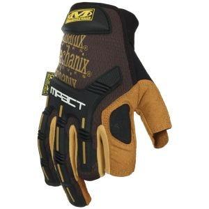 Rękawice Taktyczne Mechanix Wear M-Pact Framer Leather Brązowe