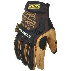 Rękawice Taktyczne Mechanix Wear M-Pact Leather Brązowe