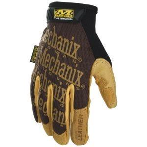 Rękawice Taktyczne Mechanix Wear Original Leather Brązowe