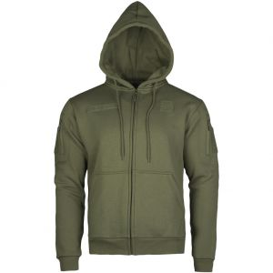 Bluza z Kapturem Mil-Tec Tactical Zipped Hoodie Ranger Green