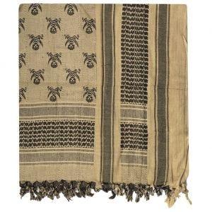 Chusta Arafatka Mil-Tec Shemagh Skull Coyote-Czarna