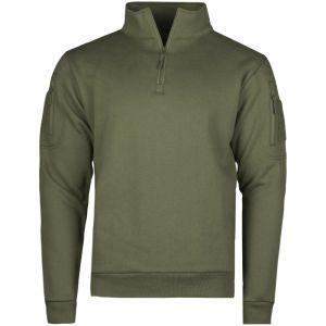 Bluza z Zamkiem Mil-Tec Tactical Sweatshirt with Zipper Ranger Green