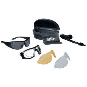 Okulary Taktyczne Bolle Raider Balistyczne - Zestaw 3 Wymiennych Wizjerów - Czarne