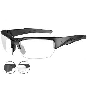 Okulary Taktyczne Wiley X WX Valor - Smoke - Clear - Czarne