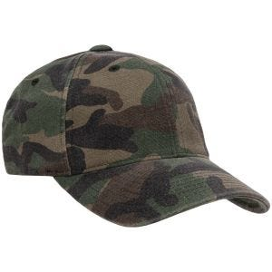 Czapka Flexfit Garment Washed Camo Woodland