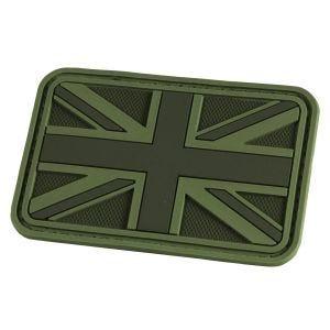 Naszywka Hazard 4 3D UK Flaga Wielkiej Brytani OD Green