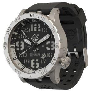 Zegarek Hazard 4 Heavy Water Diver Titanium Tritium Blacktie White GMT Niebiesko-Czerwony