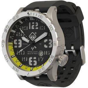 Zegarek Hazard 4 Heavy Water Diver Titanium Tritium Blacktie Yellow GMT Zielono-Żółty