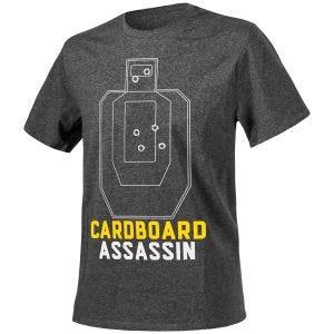 Koszulka T-shirt Helikon Cardboard Assassin Melange Czarna-Szara