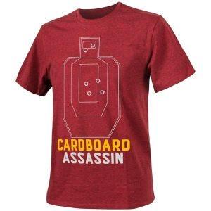 Koszulka T-shirt Helikon Cardboard Assassin Melange Czerwona