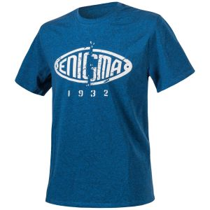 Koszulka T-shirt Helikon Enigma Melange Niebieska