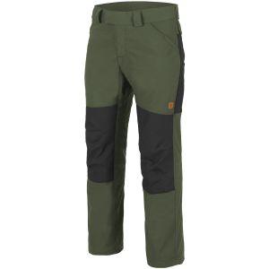 Spodnie Helikon Woodsman Taiga Green / Czarne