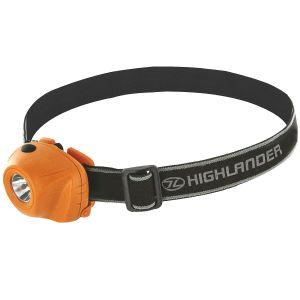 Latarka Czołowa Highlander Beam 1W LED Pomarańczowo-Czarna