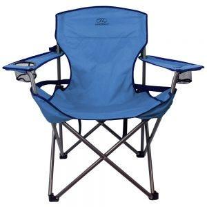 Krzesło Turystyczne Highlander Lumbar Składane Niebieskie