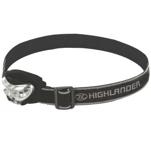 Latarka Czołowa Highlander Vision 2+1 LED Czarna