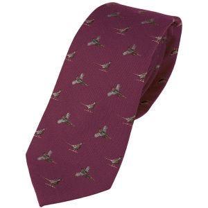 Jedwabny Krawat Jack Pyke Pheasant Burgundowy