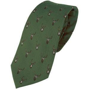 Jedwabny Krawat Jack Pyke Stag Zielony