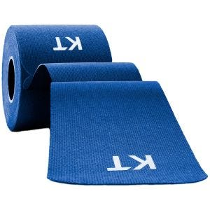"Taśma Sportowa KT Tape Consumer Cotton Original Precut 10"" Niebieska"