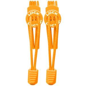 Sznurówki do Butów Lock Laces Elastyczne Pomarańczowe