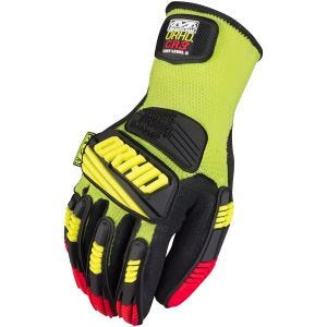 Rękawice Taktyczne Mechanix Wear The Safety M-Pact ORHD Knit CR3 Hi-Viz Yellow