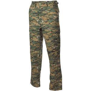 Spodnie MFH BDU Combat Ripstop Digital Woodland
