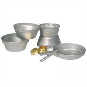 Zestaw Naczyń Aluminiowych Mil-Tec z Palnikiem