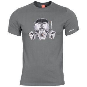 Koszulka T-shirt Pentagon Ageron Gas Mask Wolf Grey