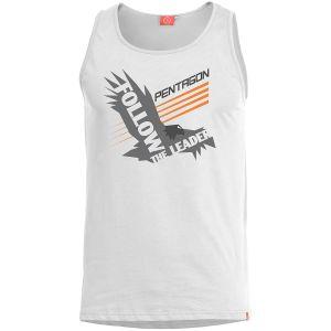 Koszulka bez rękawów Pentagon Astir Follow The Leader Biała