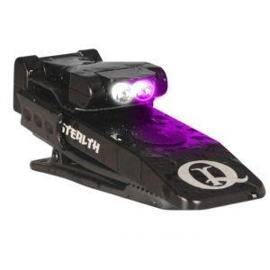 Mini Latarka z Klipsem Mocującym QuiqLite Stealth UV / Biały LED