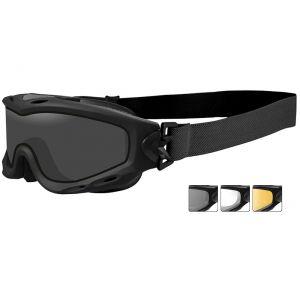 Okulary Taktyczne Wiley X Spear - Zestaw 3 Wymiennych Wizjerów - Czarne