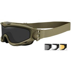 Okulary Taktyczne Wiley X Spear - Zestaw 3 Wymiennych Wizjerów - Tan