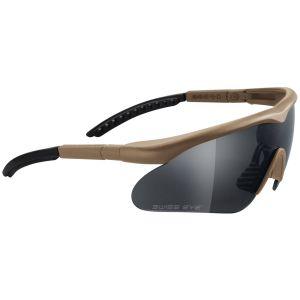 Okulary Taktyczne Swiss Eye Raptor - Zestaw 3 Wymiennych Wizjerów - Coyote