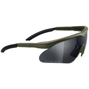 Okulary Taktyczne Swiss Eye Raptor - Zestaw 3 Wymiennych Wizjerów - Oliwkowe