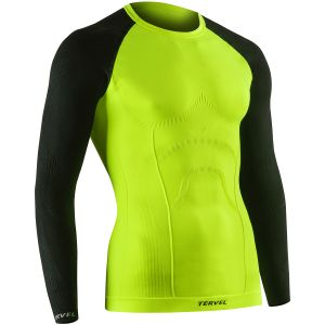 Koszulka Termoaktywna Tervel Comfortline Długi Rękaw Yellow Fluo Czarna