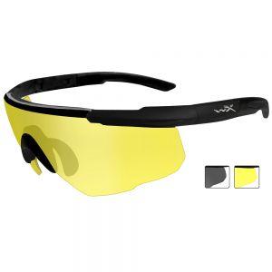 Okulary Taktyczne Wiley X Saber Advanced - Smoke + Yellow - Czarne