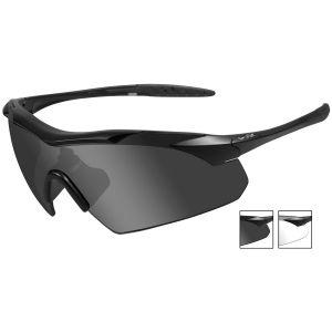 Okulary Taktyczne Wiley X WX Vapor - Smoke + Clear - Czarne