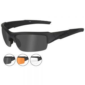 Okulary Taktyczne Wiley X WX Valor - Zestaw 3 Wymiennych Wizjerów - Czarne