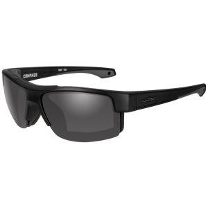 Okulary Taktyczne Wiley X WX Compass - Smoke Grey - Czarne
