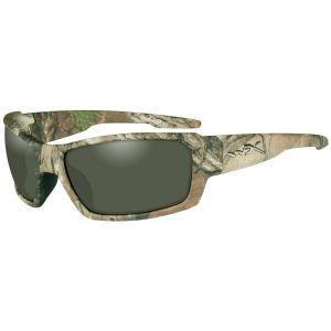 Okulary Taktyczne Wiley X WX Rebel - Polarized Green - Realtree Xtra Camo