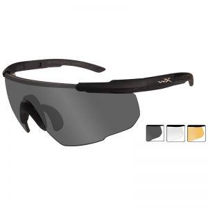 Okulary Taktyczne Wiley X Saber Advanced - Zestaw 3 Wymiennych Wizjerów - Czarne