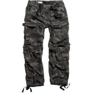 Spodnie Surplus Airborne Vintage Black Camo