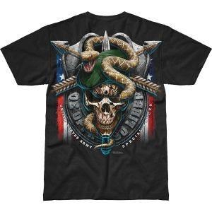 Koszulka T-shirt 7.62 Design Army Specialces Green Beret Battlespace Czarna
