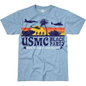 Koszulka T-shirt 7.62 Design USMC Beach Party Battlespace Sky Blue
