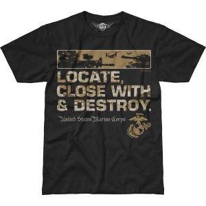 Koszulka T-shirt 7.62 Design USMC Locate Battlespace Czarna