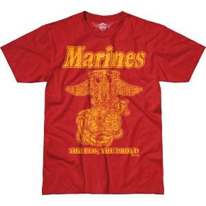 Koszulka T-shirt 7.62 Design USMC Retro Battlespace Scarlet