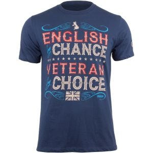 Koszulka T-shirt 7.62 Design Veteran By Choice English Indigo Blue