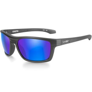 Okulary Taktyczne Wiley X WX Kingpin - Polarized Blue Mirror - Matte Graphite